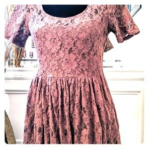 Altar'd State brown lace dress